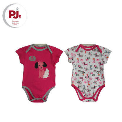Picture of PJ502 CH3 Onesie Poodle Pink