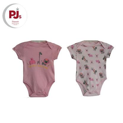 Picture of PJ501 CH3 Onesie Safari Pink