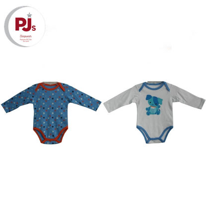Picture of PJ506 CH3 Onesie Paws Blue