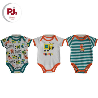 Picture of PJ540 CH5 Onesie Les Robot White