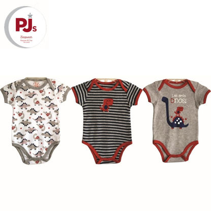 Picture of PJ541 CH5 Onesie Les Dino White