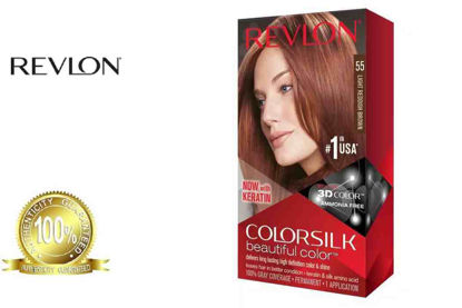 Picture of Revlon Colorsilk Beautiful Color with Keratin 130ml Light Reddish Brown No.55