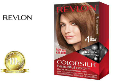 Picture of Revlon Colorsilk Beautiful Color with Keratin 130ml Light Golden Brown No.54