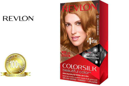 Picture of Revlon Colorsilk Beautiful Color with Keratin 130ml Lightest Golden Brown No.57