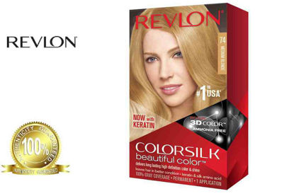 Picture of Revlon Colorsilk Beautiful Color with Keratin 130ml Medium Blonde No.74