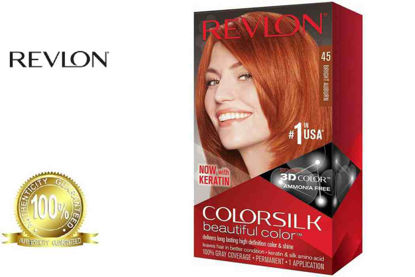 Picture of Revlon Colorsilk Beautiful Color with Keratin 130ml Bright Auburn No. 45