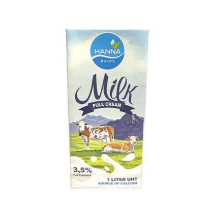 Picture of Hanna Full Cream Milk/UHT 1L (1 case)