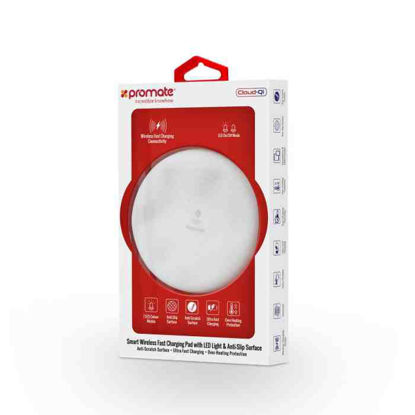 Picture of Promate Cloud-Qi White Wireless Charging Pad