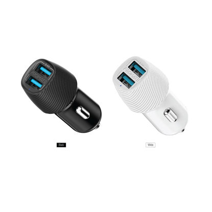 Picture of Promate Voltrip-Duo 3.4A Car Charger With Dual Usb Ports