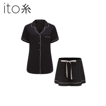 Picture of Bamboo Pajama Shorts Set - Black - L/XL