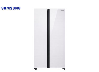 Picture of Samsung 24.7 Cu. Ft. Side By Side Classic White Refrigerator RS62R5031M9/TC