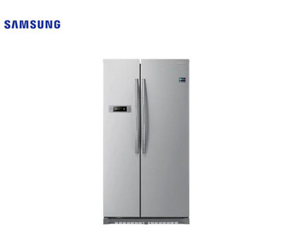 Picture of Samsung 19.4 Cu. Ft. Side By Side EZ Clean Steel Refrigerator RS542NCAESL/TC