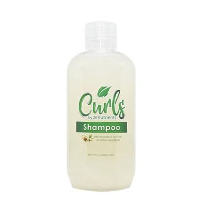 Picture of Curls By Zenutrients Avocado & Tea Tree Sulfate - Free Shampoo - 250ml