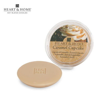 Picture of WAX MELT 26g (Caramel Cupcake) Fragranced Scented Soy Candles by Heart & Home