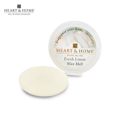 Picture of WAX MELT 26g (Fresh Linen) Fragranced Scented Soy Candles by Heart & Home