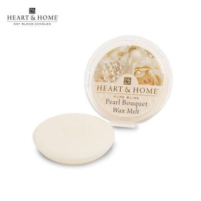Picture of WAX MELT 26g (Pearl Bouquet) Fragranced Scented Soy Candles by Heart & Home