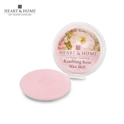 Picture of WAX MELT 26g (Rambling Rose) Fragranced Scented Soy Candles by Heart & Home