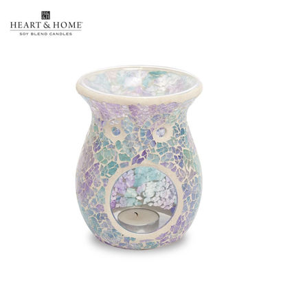 Picture of XL Wax Melt Warmer Special (Blue Mosaic) by Heart & Home