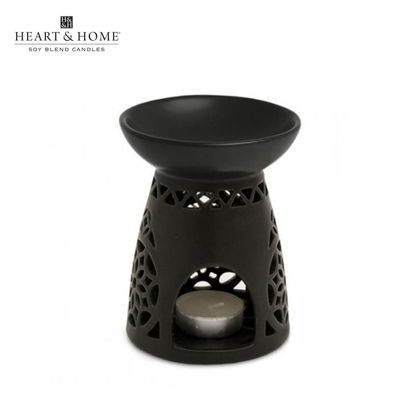 Picture of Large Wax Melt Warmer (Black Moroccan) by Heart & Home