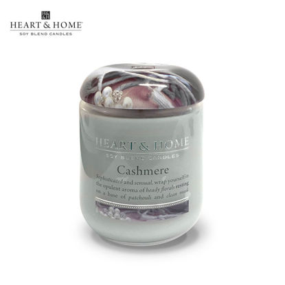 Picture of LARGE 320g (Cashmere) Delectable Fragrance Scented Soy Candle Jar by Heart & Home