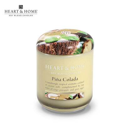 Picture of LARGE 320g (Pina Colada) Delectable Fragrance Scented Soy Candle Jar by Heart & Home