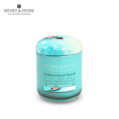 Picture of small 110g (Mediterranean Seasalt) Elegant Fragrance Scented Soy Candle Jar by Heart & Home