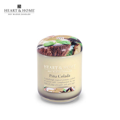 Picture of small 110g (Pina Colada) Elegant Fragrance Scented Soy Candle Jar by Heart & Home