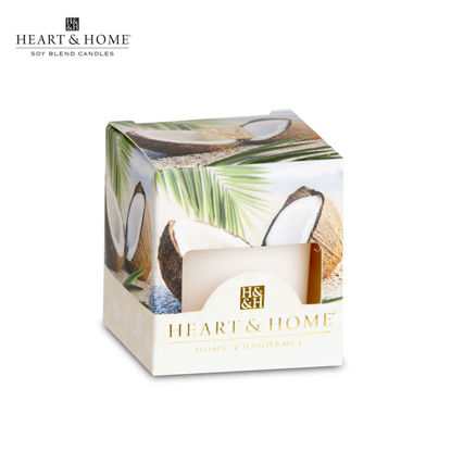 Picture of cute-sized 52g (Coconut Escape) Beautiful Fragrance Scented Soy Candle Heart & Home