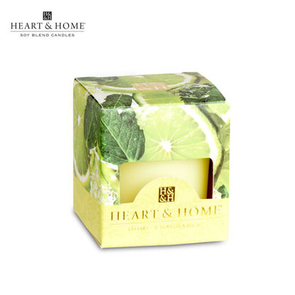 Picture of cute-sized 52g (Lime Splash) Beautiful Fragrance Scented Soy Candle Heart & Home