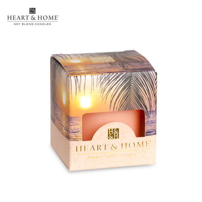 Picture of cute-sized 52g (Paradise Sunset) Beautiful Fragrance Scented Soy Candle Heart & Home