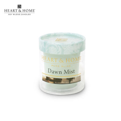 Picture of cute-sized 52g (Dawn Mist) Beautiful Fragrance Scented Soy Candle Heart & Home