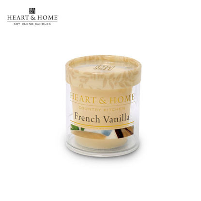 Picture of cute-sized 52g (French Vanilla) Beautiful Fragrance Scented Soy Candle Heart & Home