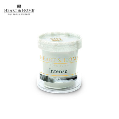 Picture of cute-sized 52g (Intense) Beautiful Fragrance Scented Soy Candle Heart & Home