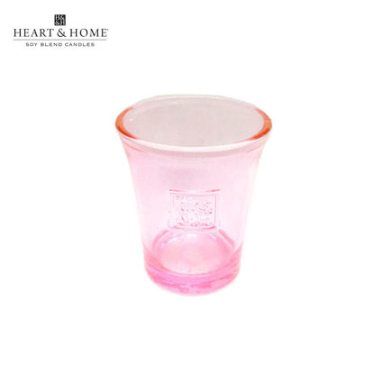 Picture of Glass VOTIVE HOLDER (Pink) for cute-sized Votive Candle by Heart & Home