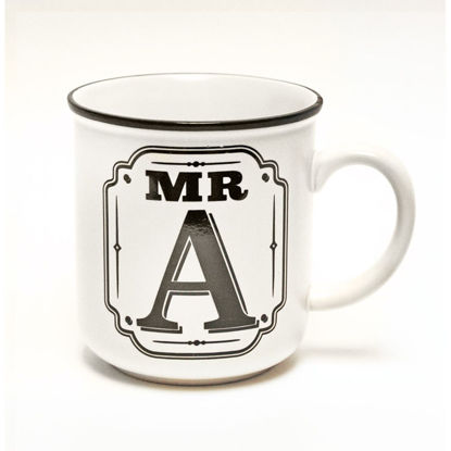 Picture of Alphabet Mug (Mr. A) Personalised Stoneware Mug Gift