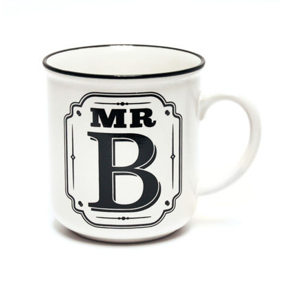 Picture of Alphabet Mug (Mr. B) Personalised Stoneware Mug Gift