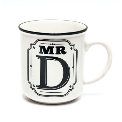 Picture of Alphabet Mug (Mr. D) Personalised Stoneware Mug Gift