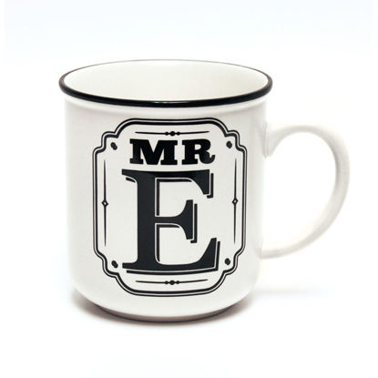 Picture of Alphabet Mug (Mr. E) Personalised Stoneware Mug Gift