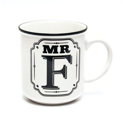 Picture of Alphabet Mug (Mr. F) Personalised Stoneware Mug Gift