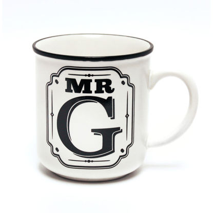 Picture of Alphabet Mug (Mr. G) Personalised Stoneware Mug Gift