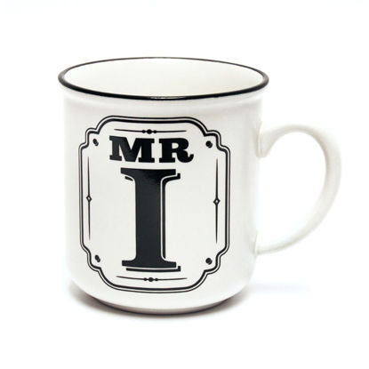 Picture of Alphabet Mug (Mr. I) Personalised Stoneware Mug Gift
