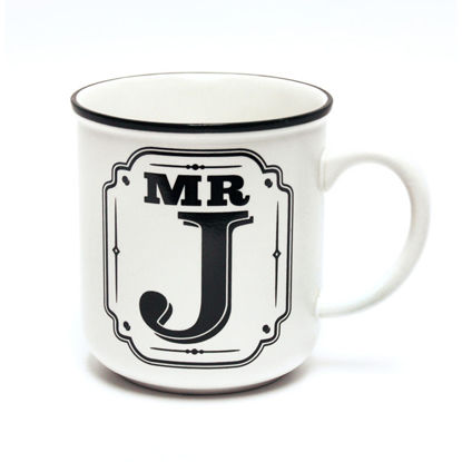 Picture of Alphabet Mug (Mr. J) Personalised Stoneware Mug Gift