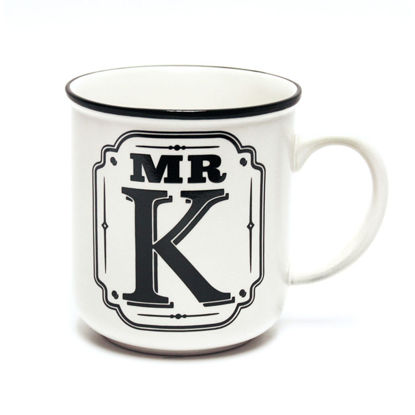 Picture of Alphabet Mug (Mr. K) Personalised Stoneware Mug Gift