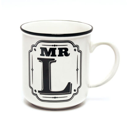 Picture of Alphabet Mug (Mr. L) Personalised Stoneware Mug Gift