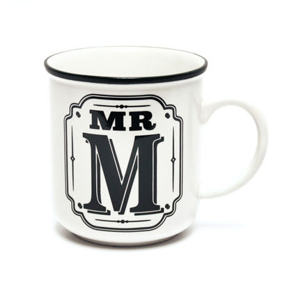 Picture of Alphabet Mug (Mr. M) Personalised Stoneware Mug Gift