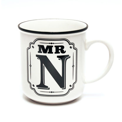 Picture of Alphabet Mug (Mr. N) Personalised Stoneware Mug Gift