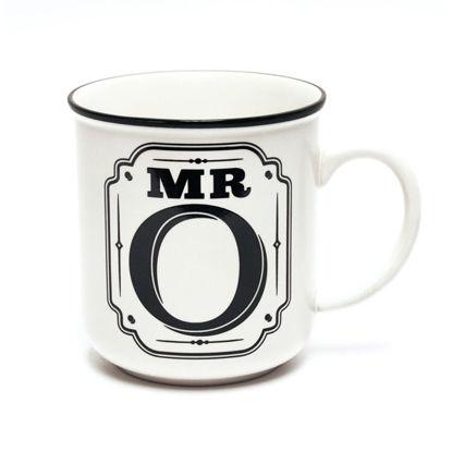 Picture of Alphabet Mug (Mr. O) Personalised Stoneware Mug Gift