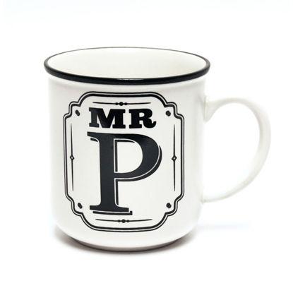 Picture of Alphabet Mug (Mr. P) Personalised Stoneware Mug Gift