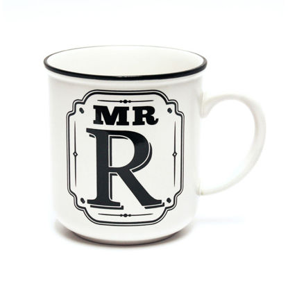 Picture of Alphabet Mug (Mr. R) Personalised Stoneware Mug Gift