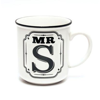 Picture of Alphabet Mug (Mr. S) Personalised Stoneware Mug Gift